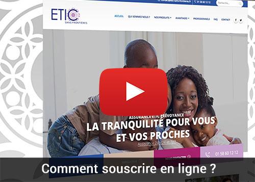 souscription en ligne Assurance Obsèques Assurance décès Assurance rapatriement de corp ETIC